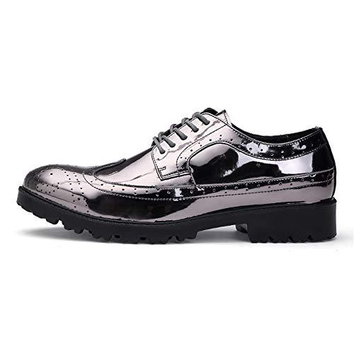traspiranti Color Scarpe lacci sintetico 42 EU Stringate PU moda Dimensione Silver shoes in con Basse da uomo 2018 Velluto Silver uomo Xujw Scarpe alla da qH8PwAnxE