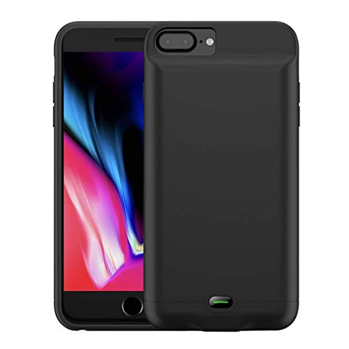 5000 mAh Battery Case Compatible with iPhone 6/6s/7/8 Plus (5.5 in) by Gorilla Gadgets, Portable Charger Case Rechargeable Extended Battery Pack Protective Charging Case (iPhone 6/6s/7/8 Plus, BLK)