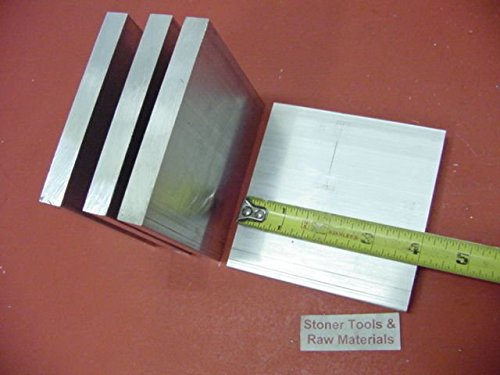 4 Pieces 1/2″ X 4″ ALUMINUM 6061 T6511 SOLID FLAT BAR 4″ long Plate Mill Stock
