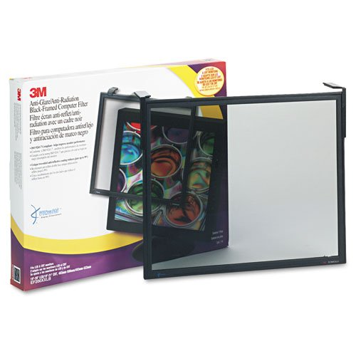3M Commercial Office Supply Div. Products - Filter, Antiradiation, Fits19''-21''Screen or 19''-20''LCD, Black - Sold as 1 EA - Antiglare/Radiation Filter features light-tint glass for improved contrast, reduces glare up to 99 percent and helps relieve eyestra