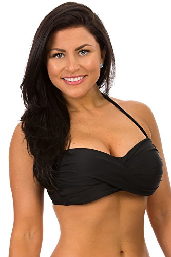 - H2OH Colours Swimwear The Curvy Large Cup Bandeau Black