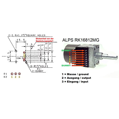 ALPS 100K log With Engine stereo RK16812MG Rotary: Amazon co