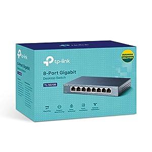 TP-Link 8 Port Gigabit Ethernet Network Switch | Ethernet Splitter | Sturdy Metal w/ Shielded Ports | Plug-and-Play…
