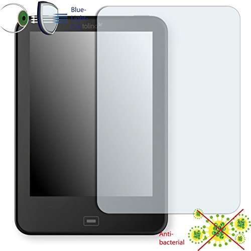 DISAGU ClearScreen Displayschutzfolie für Tolino Vision 2 anti-bakteriell, BlueLightCut Filter Schutzfolie
