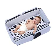 3-in-1 Travel Tote Bassinet Diaper Bag Changing Station Plus 2 bonus blankets