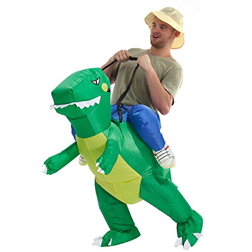YEAHBEER Inflatable Dinosaur Costumes For Adults & Kids, T-REX Costume Costumes Halloween Cosplay Costume, Blow Up Costume]()