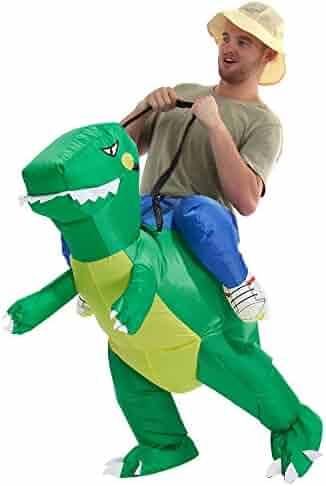 YEAHBEER Dinosaur Inflatable Costume T-Rex Fancy Dress Halloween Blow up Costumes Adult/Kids