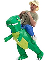 Dinosaur Inflatable Costume T-Rex Fancy Dress Halloween Blow up Costumes Adult/Kids