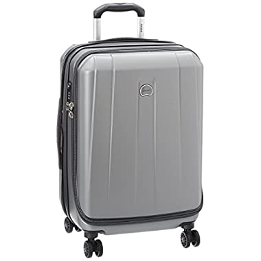 Delsey Luggage Helium Shadow 3.0 21 Inch Carry-On Exp. Spinner Suiter Trolley, Platinum, One Size