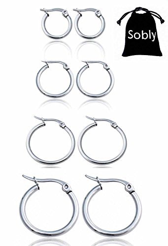 Sobly Jewelry Surgical Stainless Earrings