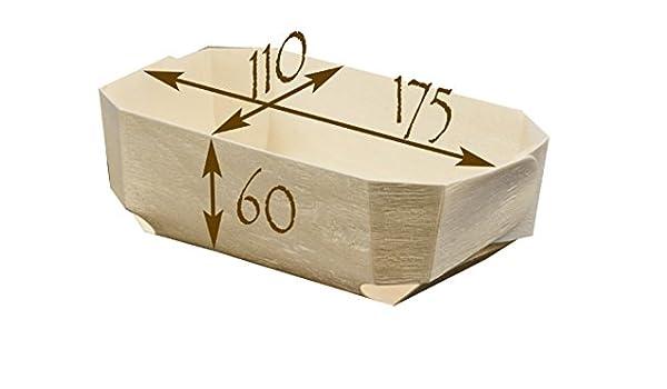 FaisTonGateau - Lote de moldes de madera para horno (100 unidades): Amazon.es: Hogar