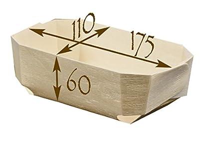 FaisTonGateau - Lote de moldes de madera para horno (100 unidades)