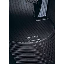 BMW 3 Series (E90) 2006-2012 all-weather rubber floor mats -- FRONT Black
