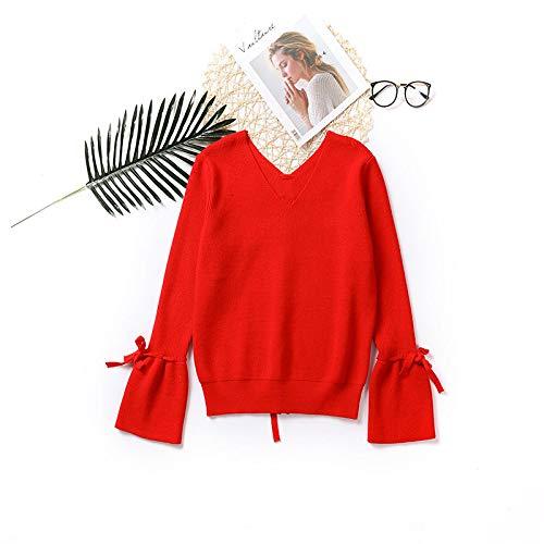 XBR Trompete ärmel Pullover, Herbst - Winter Winter Winter - sprecher ärmel, v - Kragen - Pullover, die Reine Farbe Jacke selbstheilenden Pullover, Unterm Hemd. B07GSZSFVB Pullover & Sweatshirts Schönes Design 1c03c1