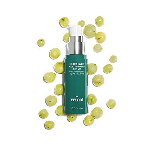 Vernal Hydra-Glow Organic Hyaluronic Acid Serum For Your Face - Highest Quality Hyaluronic Acid Serum, Anti Aging Serum That Lifts and Firms Skin. With Vitamin C, A, D & E - 1 OZ
