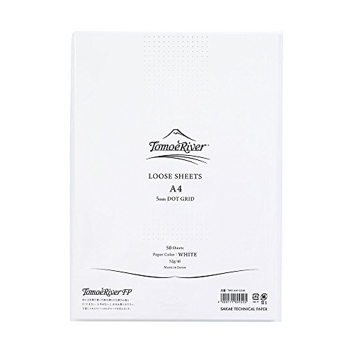 Tomoe River Artist-Grade Letter Writing Pad, White (TMR-A4P-D5W) Leaf Dot
