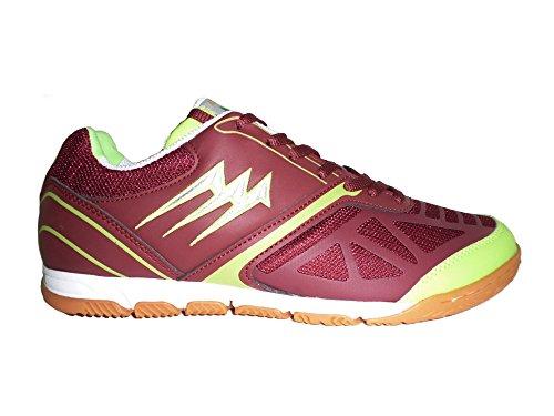 AGLA - Zapatillas de fútbol sala de Material Sintético para hombre Media Burgundy