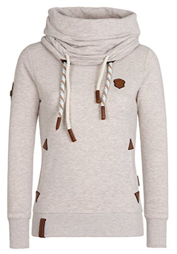 Oma Sweatshirt (Naketano Women's Sweatshirt Reorder VIII Nasty Oma Melange, L)
