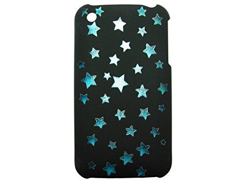 Telileo Back Case - Apple iPhone 3G iPhone 3GS - Sterne - Schwarz/Blau