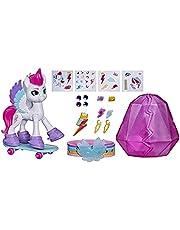My Little Pony: A New Generation kristallen avontuur Zipp Storm, 7,5 cm grote witte pony met verrassingsaccessoires, vriendschapsarmband