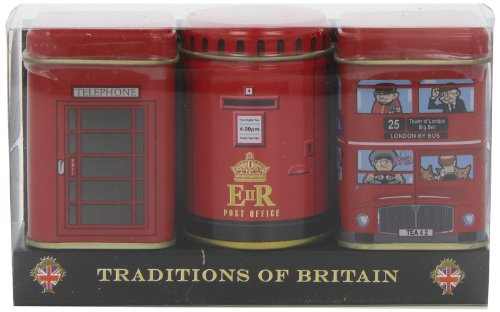 English Tea in Miniature Tins, Traditions of Britain - Heritage Mini Tins Gift Pack (Miniature Tin)