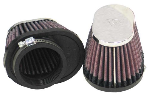 K&N RC-0982 Motorcycle Universal Chrome Air Filter