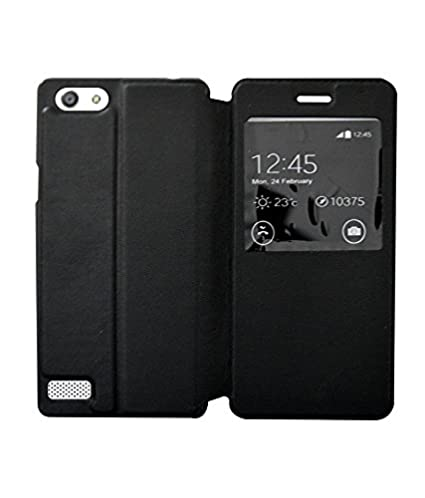 premium selection 2454b 2d7ee COVERNEW Flip Cover for Oppo Neo 7::Oppo A33F - Black  WindowFlippOppoNeo7A33FBlack