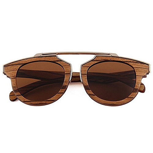 sol sol metal calidad sol alta madera de de Adult madera UV playa de a gafas de Eyewear mano de Diseñador gafas polarizadas Decoración protección Original Marrón sol de hecha de gafas de de Gafas Wayfarer txxpW6qP