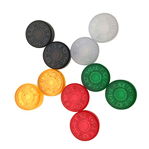 (GETMusic Mooer Plastic Bumpers Footswitch Topper Protector Cap For Guitar Effect Pedal Knob Assorted Color Pack of 10)