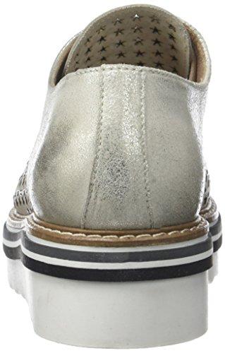 Osso Ruby de PIU 003 Argent Mujer Zapatos para Ghiaccio Cordones Donna Derby 1Tqzxnx