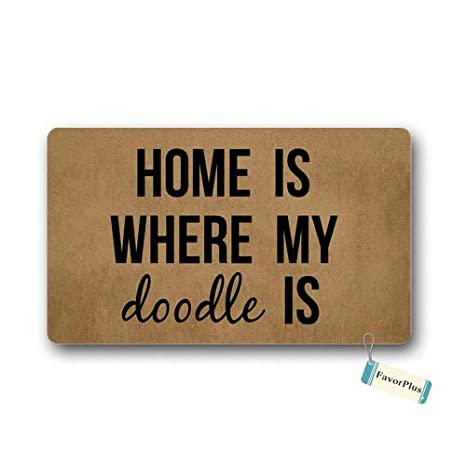 Amazoncom Doormat Home Is Where My Doodle Is Entrance