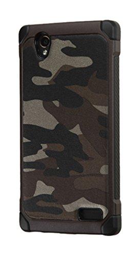 Asmyna Phone Case for ZTE N9518 - Retail Packaging - Black/Gray