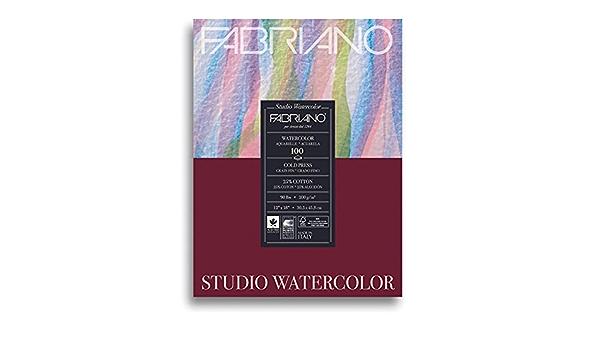 Cold Press 25-Sheet Pad 9x6 Fabriano Studio Watercolor Paper Landscape 90 lb