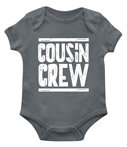 SpiritForged Apparel Cousin Crew Infant Bodysuit, Charcoal Newborn