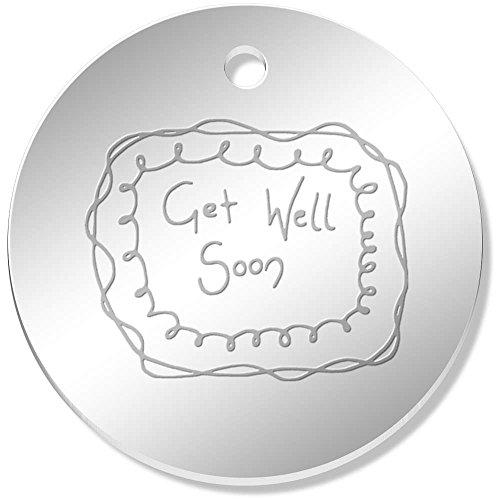 Well Charm Get (Azeeda 11 x 34mm 'Get Well Soon' Mirror Pendants / Charms (PN00006773))