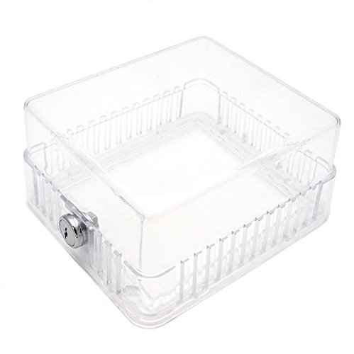 Clear Plastic Classic Thermostat Guard- Solid and Ring Bases- 5-1/4