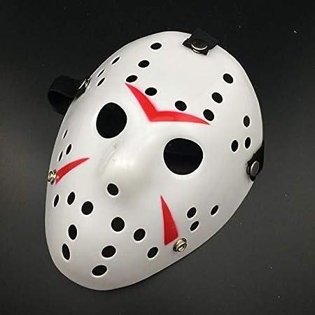 Jason Hockey Maske Horror Voorhees Maske Freitag der 13 Halloween Weiß