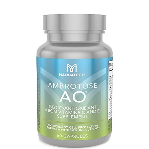 Mannatech Ambrotose AO 60 Caps, Protection From the Harmful Effects of Oxidative Stress, Poor Diet and Environmental Factors