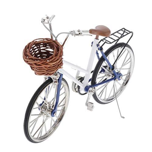 [해외]Injoyo Simulated Zinc Alloy Road Bicycle Bike Mini Bicycle Model Decoration Crafts for Home - White / Injoyo Simulated Zinc Alloy Road Bicycle Bike Mini Bicycle Model Decoration Crafts for Home - White