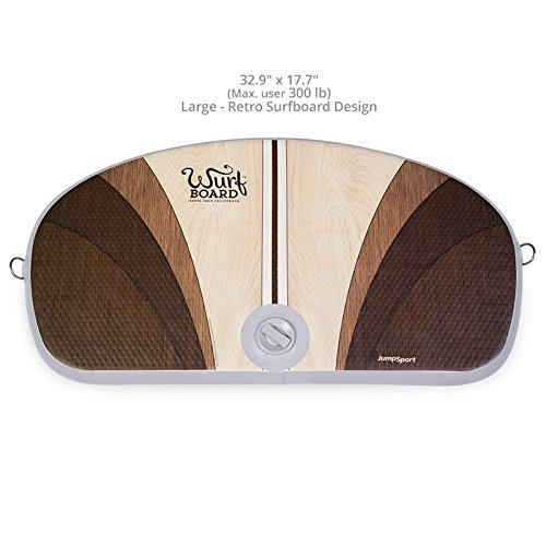 Wurf Board by JumpSport (Santa Cruz or Maui style)| Standing Desk Air-Spring Anti-Fatigue Mat | Improves Circulation, Posture, and Balance | Fully Adjustable, Inflatable Board - Maui Boards