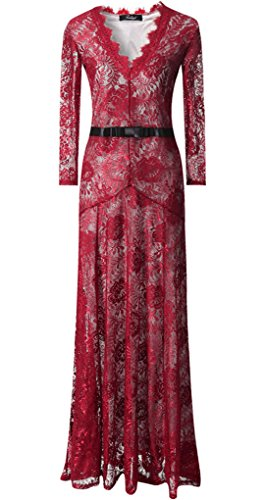V Neck Red Celebrity Dresses 2015 Fashion Party Night Out Gowns, Red, XX - Large (Celebrity Red Dress)