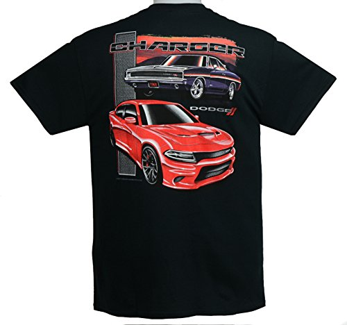 2015 to 2017 Dodge Charger T-Shirts 100% Cotton Preshrunk - Black - By HRAC Dodge Charger T-shirt