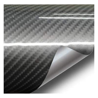 VViViD Dark Grey High Gloss Carbon Fiber Tech Art Vinyl Wrap Film (1.49ft x 5ft): Automotive