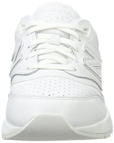 Uomo New 597 Running Balance White Bianco Scarpe Iq8I0rw