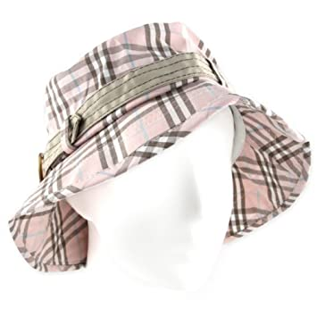 Women s Tilley Style Sun Hat - Soft Brim Visor - Taupe Baby Blue   Soft  Pink Plaid  Amazon.co.uk  Garden   Outdoors 94edb0cf0fc