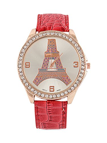 Young & Forever Women's Navratri Diwali Special Eiffel Tower Bracelet Watch Gold Toned by Young & Forever