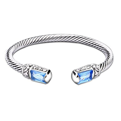 Cuff Bracelet Yurman David (UNY Unique Cuff Alloy Cuff Bangles Crystal Mosaic Bracelet Elegant Bangle for Women Fashion Jewelry)
