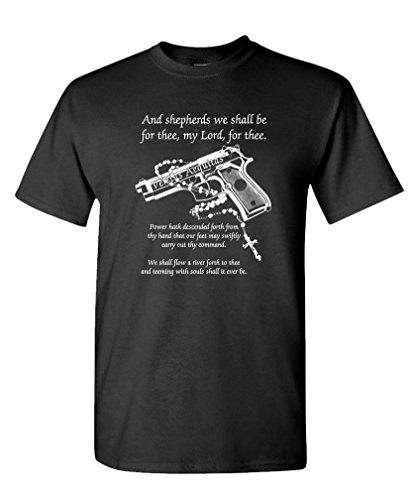 BOONDOCK PRAYER - cult classic movie guns - Mens Cotton T-Shirt, M, (Cult Classics Presents)