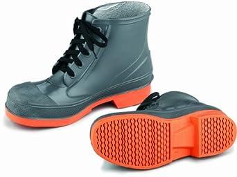 ONGUARD 87981 PVC/Nitrile Sureflex Men's Steel Toe WorkShoe with Saftey-Loc Outsole, Grey/Orange, Size 12