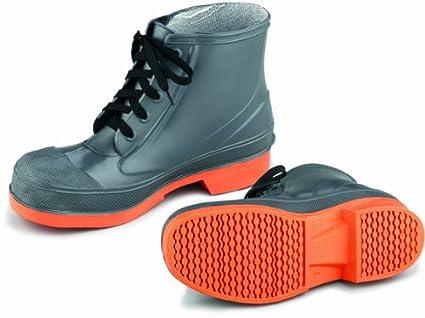 0812ccc076045 ONGUARD 87981 PVC/Nitrile Sureflex Men's Steel Toe WorkShoe with Saftey-Loc  Outsole, Grey/Orange, Size 11